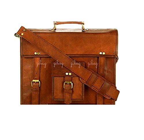Genuine Leather Vintage Messenger Bag Briefcase Laptop Office College School