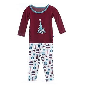 ce1c05116 Amazon.com   Kickee Pants Print PJ Set (Baby) - Natural Presents-6 ...