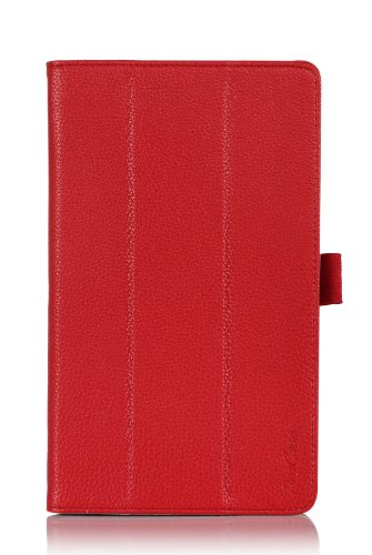 ProCase Smart Cover Case with Stand for Samsung Galaxy Tab Pro 8.4 Tablet (Galaxy TabPRO 8.4 inch Tablet, SM-T320 / T321 / T325), Bonus Stylus Pen Included (Red) (Best Galaxy Tab Pro 8.4 Case)