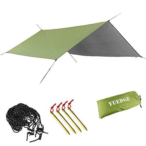 YUEDGE Portable Lightweight Waterproof Rain Tarp Rain Fly Tent Tarp Shelter Sunshade