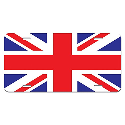 United Kingdom Flag - UK Great Britain Union Jack Novelty Metal Vanity License Tag Plate
