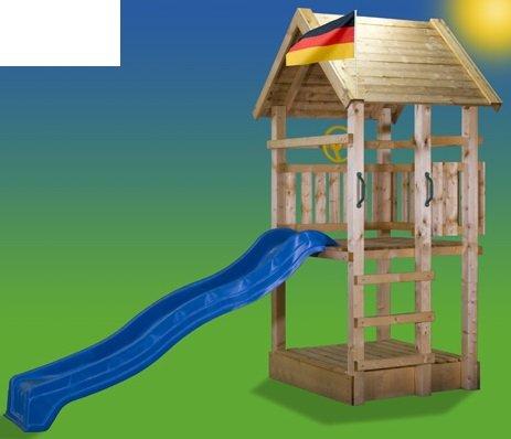 5.5.5.4.3098: schöner Kletterturm für Kinder - Kinder-Spielturm mit Sandkasten und Rutsche