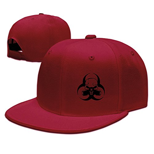 Skull Mask Gas Mask Rock Tructor Cap Hat For Man/Woman Red ()
