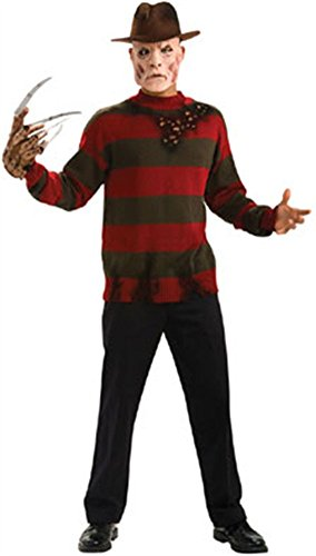 Nightmare On Elm Street Deluxe Sweater, Red/Black, Plus Costume