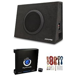 """Alpine 10"""" Subwoofer Box + Planet Audio Car Amplifier w/Amp Kit"""