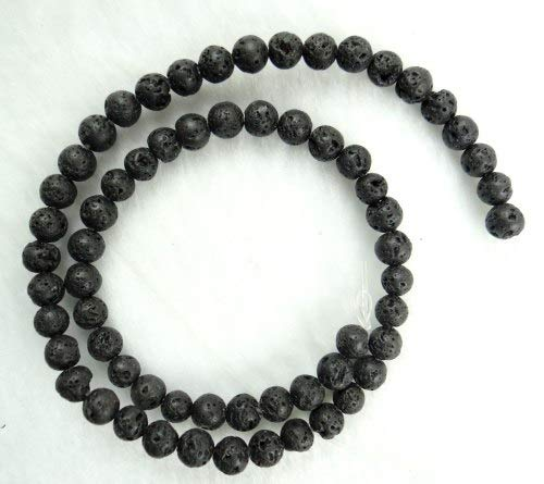 Shop For Cheap 1pack Essential Oil Natural Lava Rock Stone Beads Diy Making Necklace Bracelet White Black Natural Volcanic-stone Beads Jewelry Jewelry & Accessories Beads