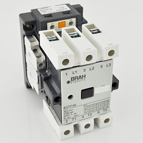Direct Replacement For Siemens World Series Contactor 3TF46 3TF4622-0AK6 3P 600V 45A Includes 110/120 Volt AC Coil and a 2 year Warranty by Brah Electric