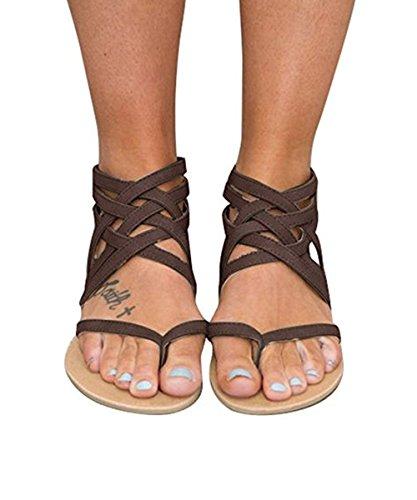 0b928ba8f37756 Huiyuzhi Womens Flip Flop Gladiator Flat Sandal Fisherman Sandal (8 B(M) US