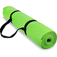 Yoga and Exercise mat of 3mm Parrot Green Yoga Mat with Yoga Mat Carry Strap 100% Eco Friendly
