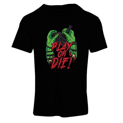 Camiseta mujer ¡Juegue o muera - solamente para jugadores ! Negro Multicolor