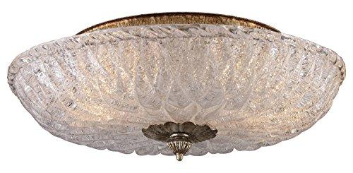 Providence Leaf Ceiling Light - Providence 2 Light Flushmount in Antique Silver Leaf