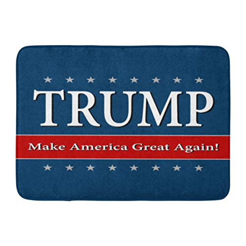 Custom Doormats Rump Make America Great Again Home Door Mats 18 x 30 inches Entrance Mat Floor Rug Indoor/Outdoor/Front Door/Bathroom Mats Rubber Non Slip by TonTong