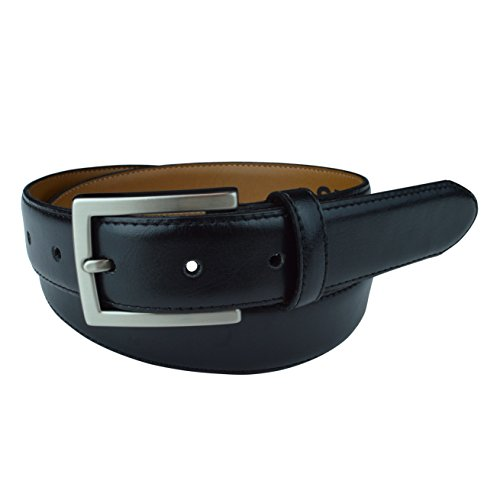 "Mens Casual Belts, Made with Recycled Materials and Cruelty Free Products, Vegan Belt, Genuine Non Leather Belt with ""Brushed Gun-Nickel"" Belt Buckle, Truth Smith (Black, 34)"