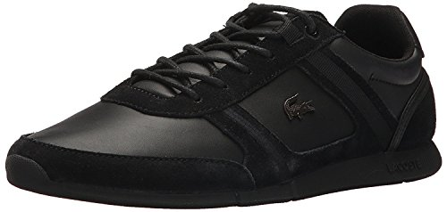 Lacoste Men's Menerva Sneakers,Black/Black Suede,10.5 M US (Shoes Dress Lacoste)