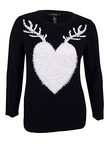 Style & Co.. Womens Plus Knit Embellished Sweater Black 2X for $<!--$8.34-->