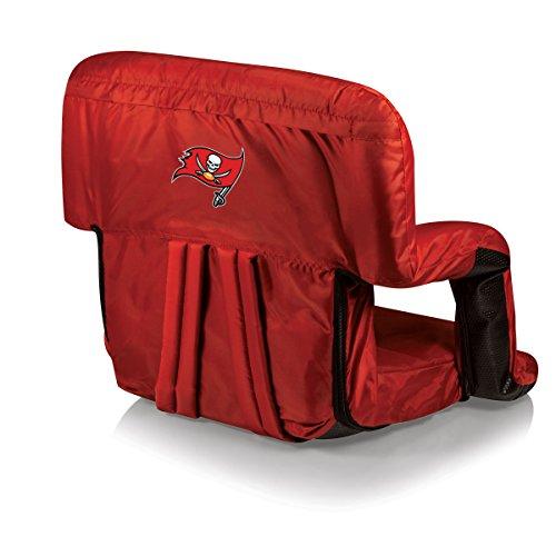 (NFL Tampa Bay Buccaneers Portable Ventura Reclining Stadium Seat, Red)