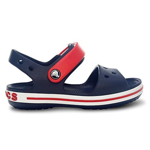Crocs – Alla Unisex Navy Sandali Caviglia Con Red Kids Crocband Bambini Cinturino qfCqA