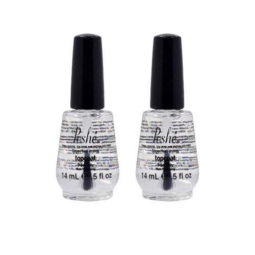 Lot 2 Poshe 0.5 OZ Super Fast Drying Top Coat Nail Polish Salon Manicure DRY