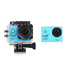 New HOT WIFI 1080P HD Action Sports Camera Built-in microphone ,Tuscom Waterproof-30M, Action Camera (2.0 Inch Ultra HD Screen)Camcorder HD 1080P Mini DV Pro Camcorder (Sky Blue)
