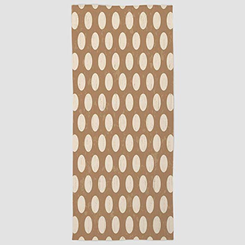 iPrint Cotton Microfiber Hand Towel [ Tan,Big Polka Dots on Grunge Backdrop Off White Shabby Simple Old Fashioned Distressed Retro,Tan Cream ] for Hotel SPA Beach Pool Bath