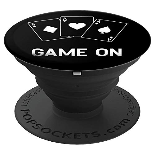 (Game On Poker Dealer Casino Dealer Men Women Gift - PopSockets Grip and Stand for Phones and Tablets)