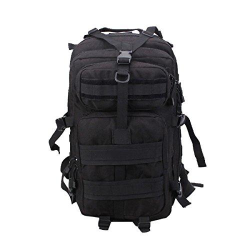 Yy.f Super Duradero Paquete De Viaje Mochila Senderismo Bolsa De Día Viajes Al Aire Libre Camping Mochila De Montar Mochila Multi-funcional Black