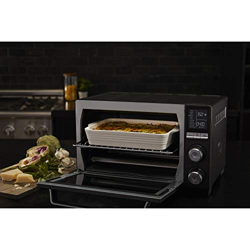 Calphalon TSCLTRDG1 Quartz Heat Countertop Toaster Oven, Stainless Steel, Extra-Large Capacity, Black, Dark Gray