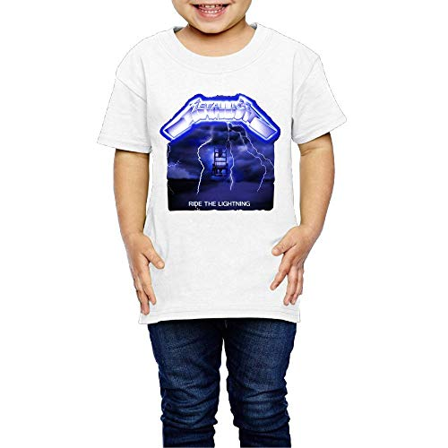 Baby Metallica Ride The Lightning Album Casual Style Short Sleeve Top T Shirt Boys Girls Particular Shirts 2 Toddler White
