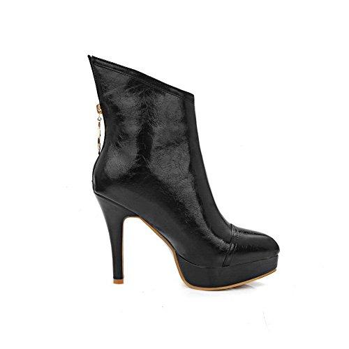 Donna Stivali A Nero Chelsea black amp;n 35 q60v7