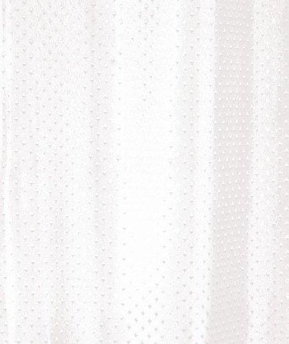 Luxxur Plus Superior tenda per doccia in tessuto di poliestere bianco diamante peso 50g, bordo rinforzato. Larghezza 300cm x lunghezza 240cm