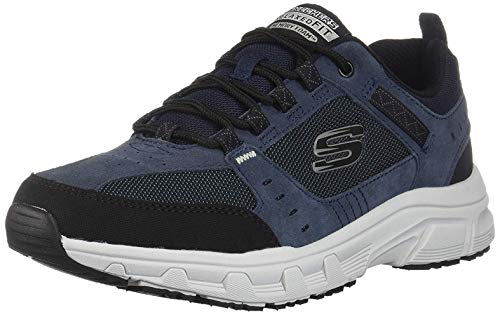 (Skechers Men's Oak Canyon Oxford, Navy/Black, 16 4E US)