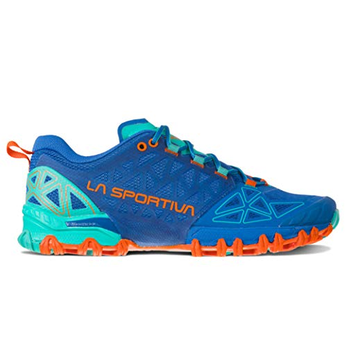 La Sportiva Bushido II Women's Running Shoe, Marine Blue/Aqua, 39.5