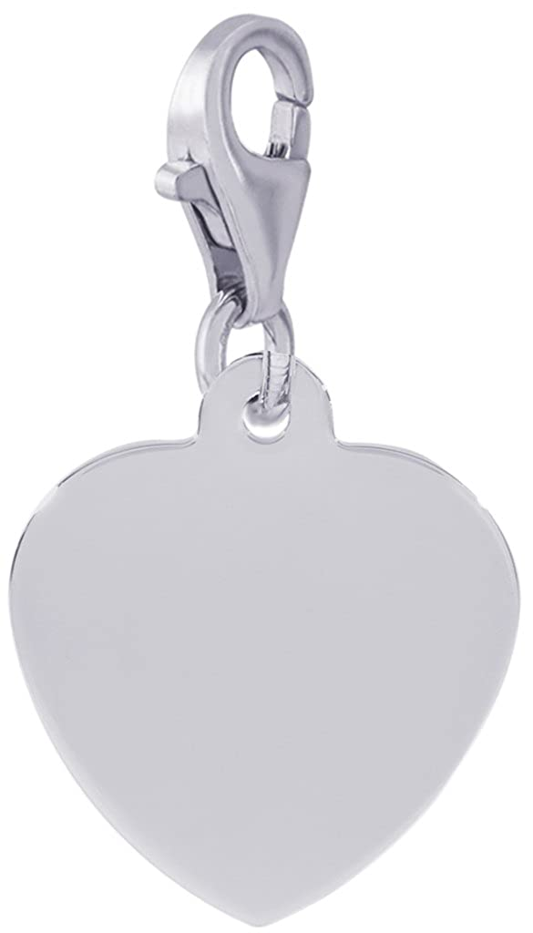 Engravable Rembrandt Charms Classic Heart.5mm Thick