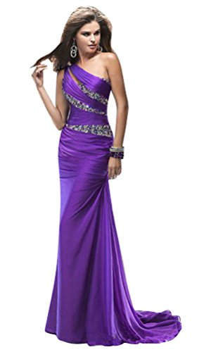 Beauty Schulter Violett Kleid Emily Damen Eine w0qxP0rY