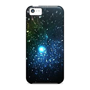 For DaMMeke Iphone Protective Case, High Quality For Iphone 5c Particles Skin Case Cover
