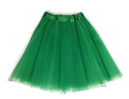 Leading Ladies Costumes (Rush Dance Women's Costume Ballet Warrior Dash Run Tutu (Adult, Kelly Green))