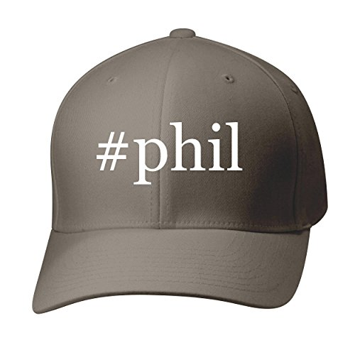 BH Cool Designs #Phil - Baseball Hat Cap Adult, Dark Grey, Small/Medium