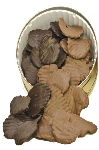 1 lb. Chocolate Covered Potato Chips 1/2 Milk 1/2 Dark (Chocolate Dipped Potato Chips)