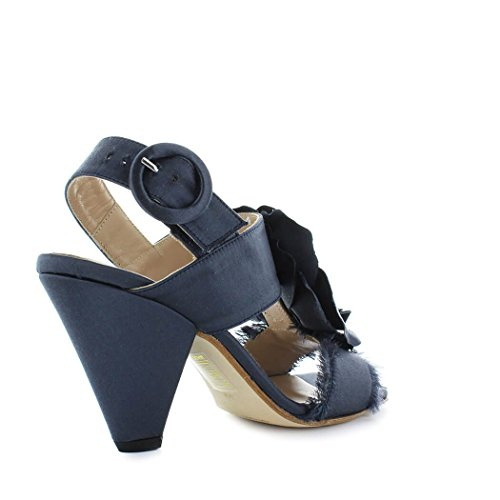 Primavera Zapatos Satén Azul Mujer Verano Sandalia Lami Ettore de Flor 2018 wq4HFW8w6