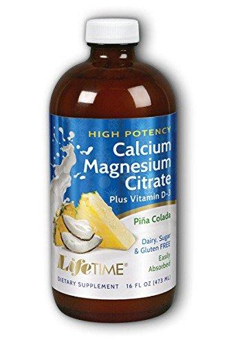 Alta Potencia de calcio citrato de magnesio, natural Piña Colada Sabor - Tiempo de Vida: Amazon.es: Salud y cuidado personal