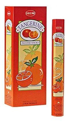 HEM Tangerine Hexa Incense Stick, 6packs X 20 Sticks= 120 Sticks