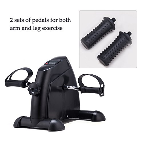 Pinty Mini Exercise Bike Pedal Exerciser Portable Cycle Lightweight