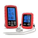 GBATERI Digital Barbecue Meat Thermometer with Timer Alarm Wireless Remote Grill Thermometer