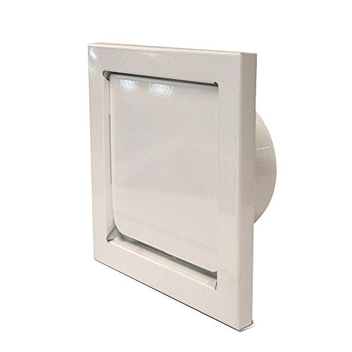 (Master Flow 4 in. Round Wall Vent - Flush Mount in White)