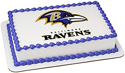Prime Amazon Com Baltimore Ravens Licensed Edible Cake Topper 4636 Birthday Cards Printable Opercafe Filternl