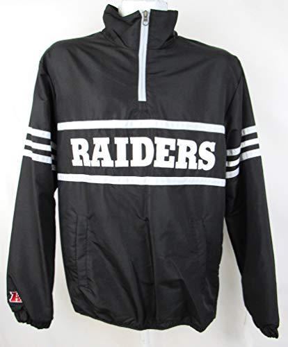 G-III Sports Oakland Raiders Mens Size Large 1/4 Zip Mesh Lined Embroidered Windbreaker Jacket ARAD 168