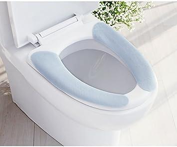 Lifechaser Badezimmer WC-Sitzbezüge Wärmer Waschbar WC-Sitz-Pad ...