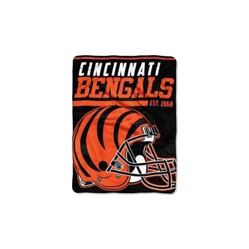 The Northwest Company NFL Cincinnati Bengals 40 Yard Dash Micro Raschel Throw, 46
