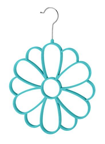 Whitmor Flocked Flower Scarf
