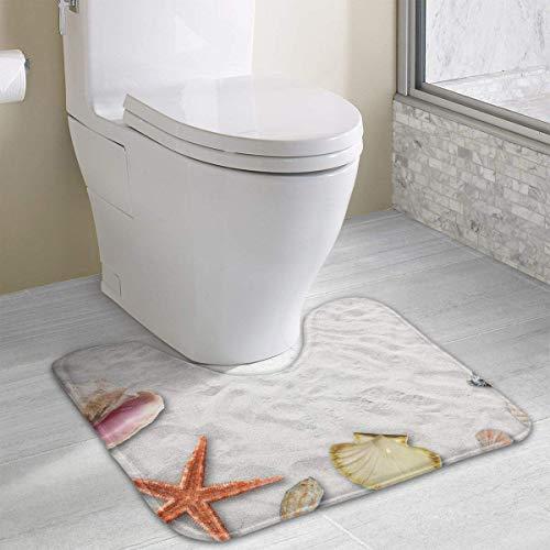 Beauregar Holiday Contour Bath Rugs,U-Shaped Bath Mats,Soft Memory Foam Bathroom Carpet,Nonslip Toilet Floor Mat 19.2″x15.7″